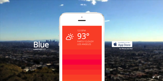 Blue  A minimal weather iOS app by Oak Studios