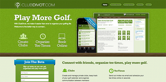 ClubDivot Golf scheduling and groups made easy
