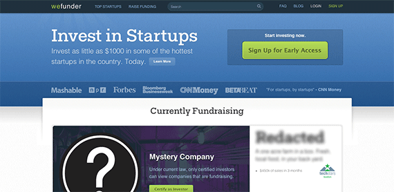 Crowd Investing for Startups Wefunder Crowdfunding