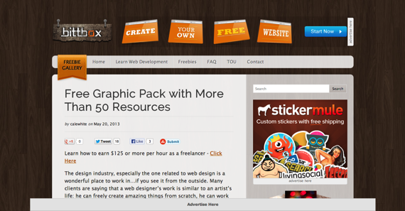 Free high quality design resources tutorials and tips for graphic and web designers  BittBox