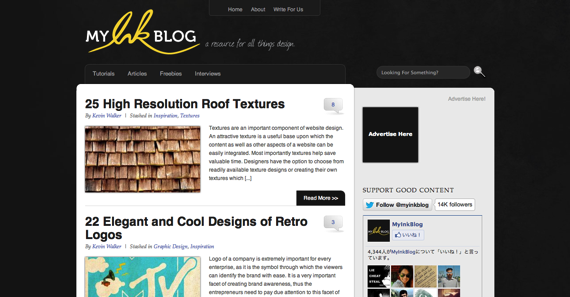 MyInkBlog  a resource for all things design