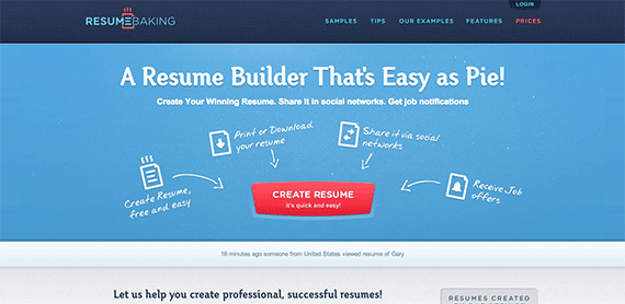 Resume Builder with free recipes of Winning Resumes Resumebaking