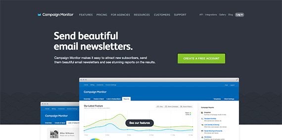 Send beautiful email newsletters with Campaign Monitor