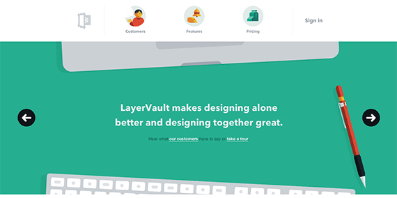 Simple version control for designers LayerVault