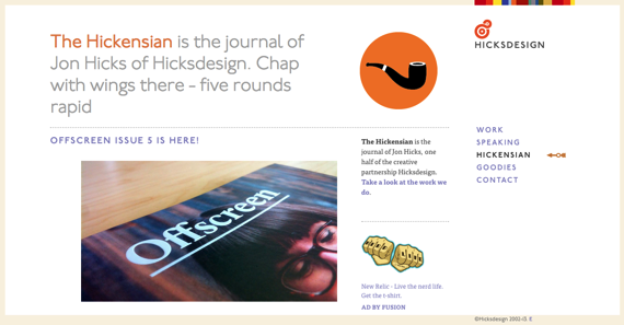 The Hickensian  Hicksdesign