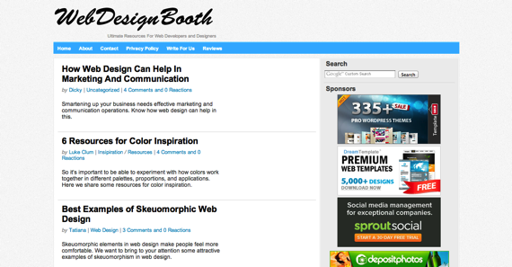 Web Design Booth  Ultimate Resources For Web Developers and Designers
