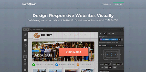 Webflow Design Responsive Websites Visually