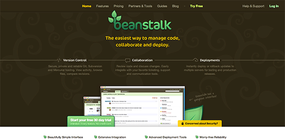 Beanstalk Secure Private Subversion Mercurial and Git Hosting