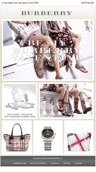 Burberry Newsletter  Email Gallery
