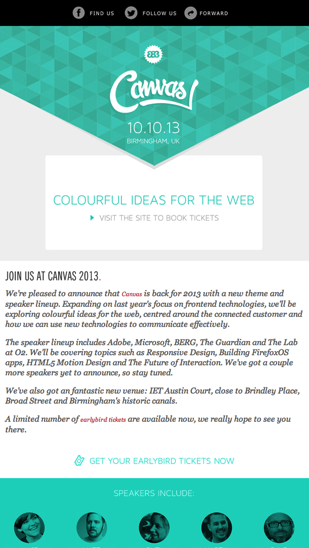 Canvas Conference Newsletter  Email Gallery