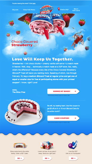 Dairy Queen Newsletter   Email Gallery