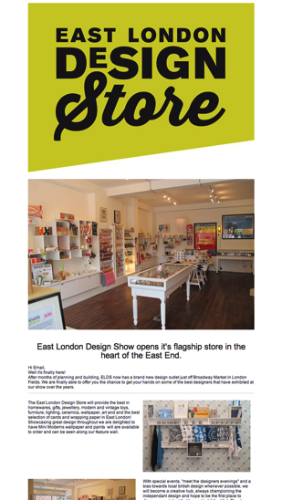 East London Design Show Newsletter  Email Gallery