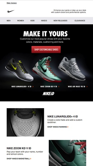 Nike Newsletter   Email Galleryのコピー