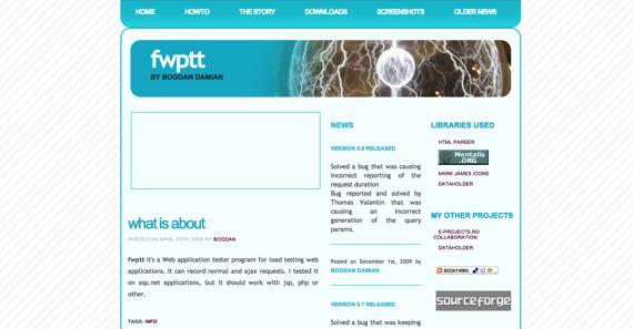 FWPTT web load testing framework