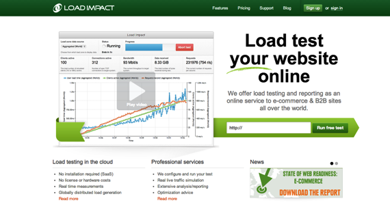 Load Impact On Demand Website Load Testing and Performance Testing Service