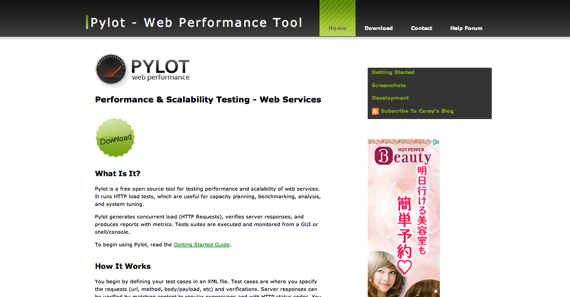 Pylot  Open Source Web Performance Tool