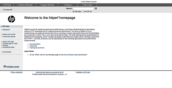 Welcome to the httperf homepage