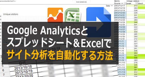 web屋に朗報 google analyticsとスプレッドシート excelでサイト分析を